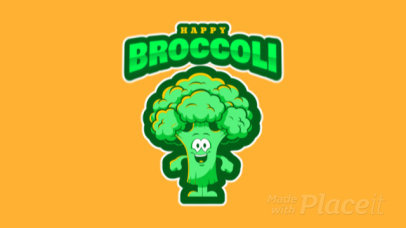 Animated Logo Template with a Broccoli Mascot Clipart 484m-2933