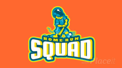 Baseball Logo Template with an Animated Player Character 1748o-2933