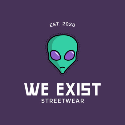 Logo Template for an Urban Clothing Brand Featuring Space Graphics 753-el1