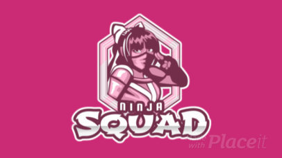 Animated Logo Creator with a Female Ninja Graphic 1750ee-2935