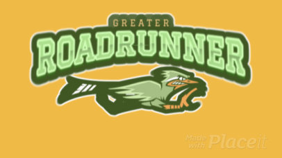 Cool Animated Logo Maker for a Sports Team with a Roadrunner Graphic 120jj-2935