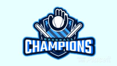 Animated Sports Logo Maker with a Baseball-Themed Emblem 1748u-2927