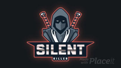 Animated Logo Maker with a Hooded Ninja Illustration 2718m-2930