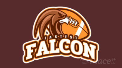 Animated Football Team Logo Maker with a Falcon Graphic 245vv-2937