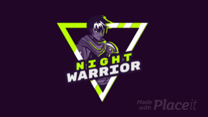 Cool Animated Logo Maker for Gamers Featuring an Angry Warrior Illustration 1747ee-2931