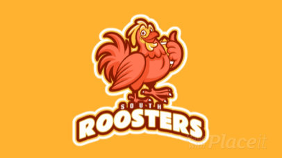 Animated Logo Generator for Sports Team with a Happy Rooster Graphic 245xx-2937