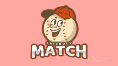 Animated Baseball Logo Creator with a Cartoonish Mascot 172qq-2926