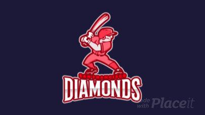 Animated Baseball Logo Creator with a Player Character 172qq-2931