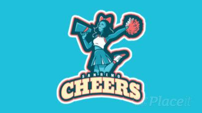 Animated Sports Logo Maker Featuring the Illustration of a Joyful Cheerleader 29ee-2929