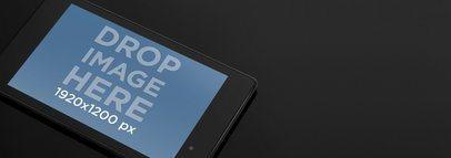 Nexus 7 On Dark Surface Wide