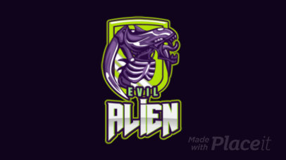 Animated Gaming Logo Maker with a Horrific Alien Clipart 1877u-2927a