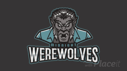 Animated Gaming Logo Maker with a Frightening Werewolf Character 2680q-2934