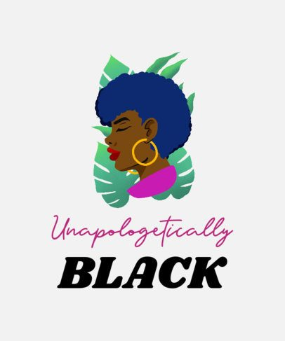 Black History Month T-Shirt Design Creator with an Optimistic Quote and an Illustration 2022i-2264