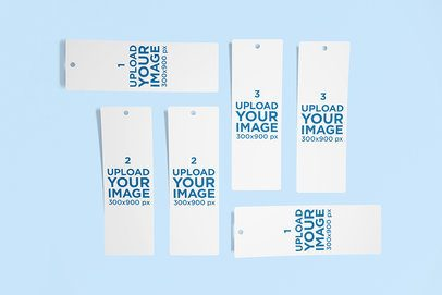 Mockup Featuring Several Bookmarks Lying on a Solid Color Surface 2662-el1