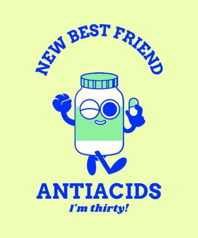 T-Shirt Design Generator Featuring a Cartoonish Pill Flask 2225e