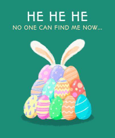 T-Shirt Design Creator Featuring Colorful Easter Eggs 2222e