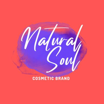 Logo Template for a Cosmetic Brand with Bright Watercolors 2922f