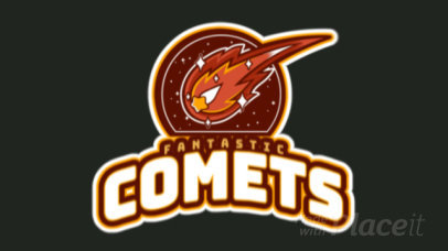 Cricket Team Logo Template Featuring an Animated Shooting Comet Graphic 1651p-2936
