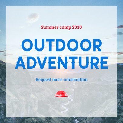 Instagram Post Maker for an Outdoor Summer Camp 2240c