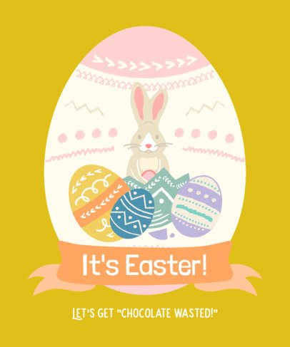 T-Shirt Design Template for Easter Season 2223g
