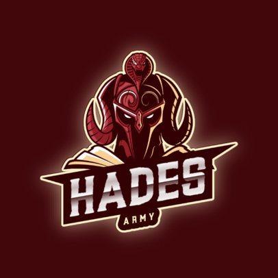 Mythology-Themed Logo Maker Featuring an Illustration of Hades 2920c