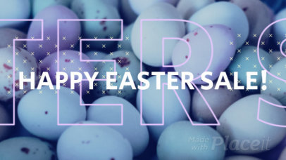 Facebook Cover Video Maker for Easter Special Offers Featuring Bold Animations 1237d-1847