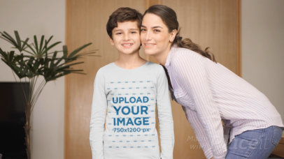 Long Sleeve Tee Video Featuring a Boy and His Mother 32331