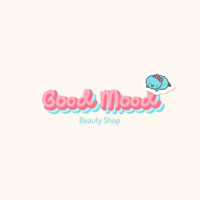 Logo Maker for a Beauty Shop with the Illustration of a Chick 2949d