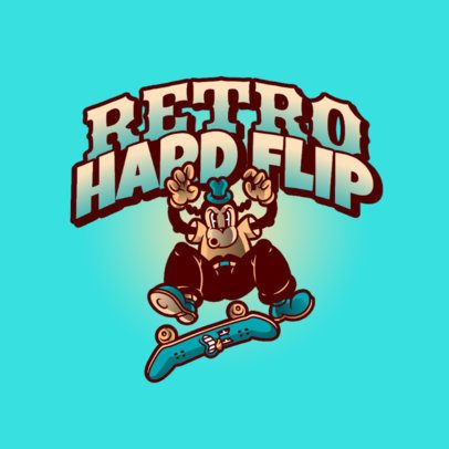 Logo Maker for a Streetwear Brand with a Skater Monkey Graphic 2956a