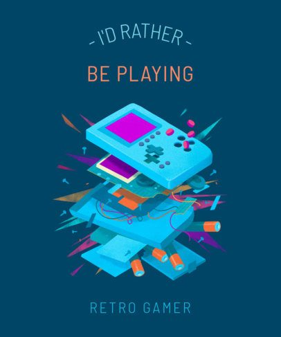 Placeit - T-Shirt Design Maker Featuring Retro Video Game ...