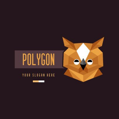 Logo Generator with a Low Poly Owl 2958a