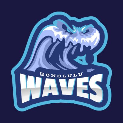 Online Logo Creator Featuring an Angry Wave Graphic 1649n-2964