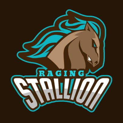 Logo Maker Featuring a Raging Horse 336x-2964