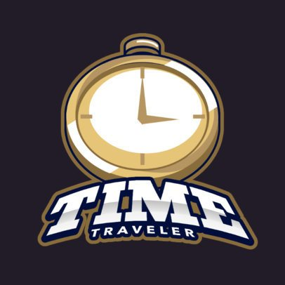 Fantasy Logo Generator with a Clock Graphic 383tt-2964