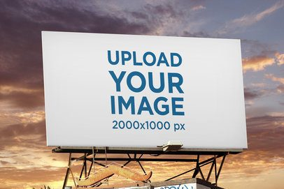 Billboard Mockup Featuring a Sunset Sky 2877-el1