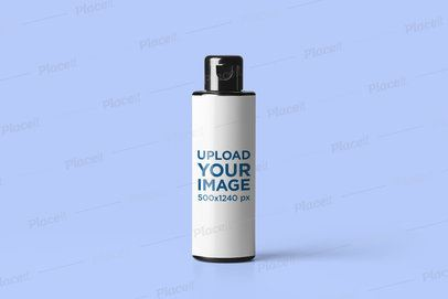 Cosmetic Bottle Mockup Featuring a Plain Color Backdrop 2563-el1