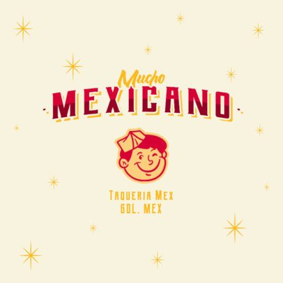 Logo Template for a Taco Stand with Mexican Graphics 2978