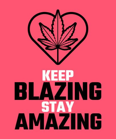 T-Shirt Design Maker for Cannabis Consumers 2258a