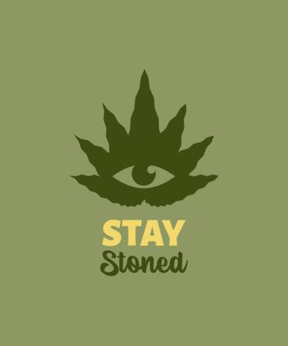 Cannabis Culture T-Shirt Design Maker with a Marijuana Leaf 2258f