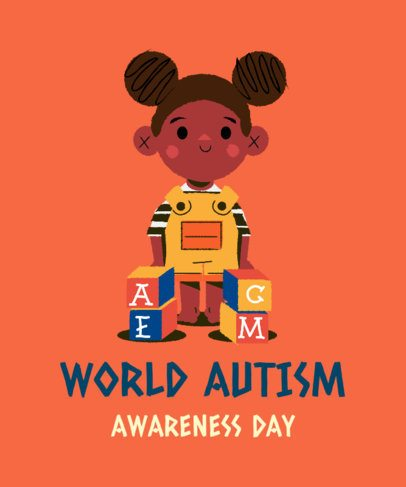 Illustrated T-Shirt Design Maker for World Autism Awareness Day 2254f
