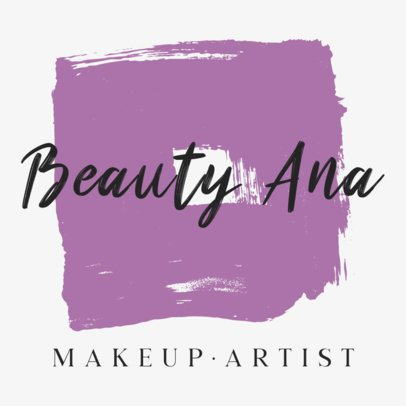 Logo Maker for Beauty Brands Featuring Paint Stain Graphics 887-el1