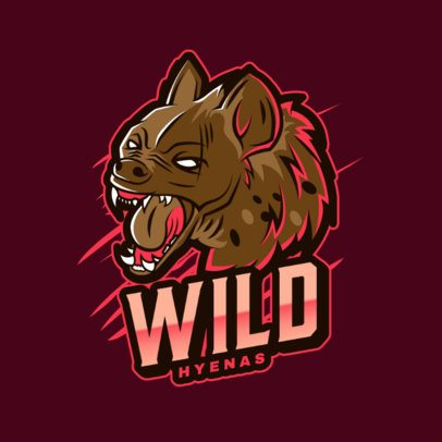 Mascot Logo Maker with an Illustration of an Angry Hyena 2975h