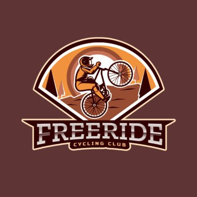 Sports Logo Template for a Cycling Club 2968e