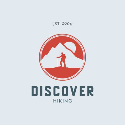 Hiking Company Logo Maker with a Mountain Icon 876a-el1
