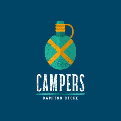 Camping Store Logo Creator with a Canteen Graphic 877c-el1