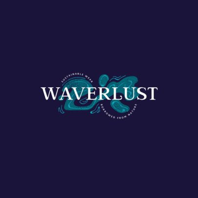 Clothing Brand Logo Generator with Abstract Wavy Graphics 2979g