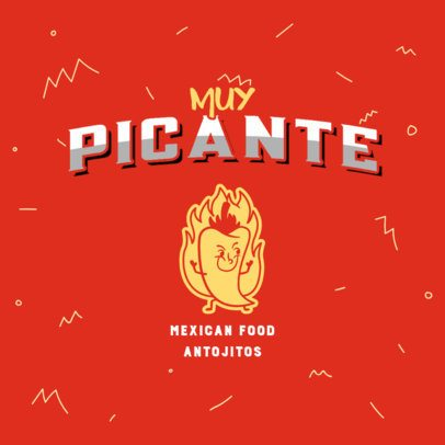 Mexican Food Logo Generator with a Chili Pepper 2978h