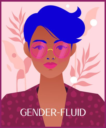 Illustrated T-Shirt Design Maker With a Gender-Fluid Character 2260g