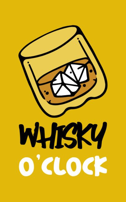 Illustrated T-Shirt Design Creator Featuring a Whiskey on the Rocks 863b-el1