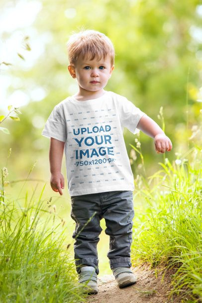 Mockup of a Toddler Playing in the Grass 2913-el1